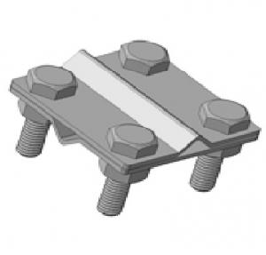 Зажим крестовой с 4 отверстиями S4, S4-30/Mi омедненный