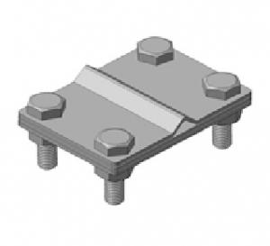 Зажим универсальный S, S158/Cr нержавеющий, прут-полоса