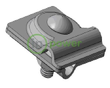 Зажим универсальный Adapt, Adapt D8-10 Mi омедненный, прут-прут