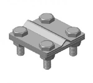 Зажим универсальный S, S157 D-Cu/Zn биметаллический, прут-полоса
