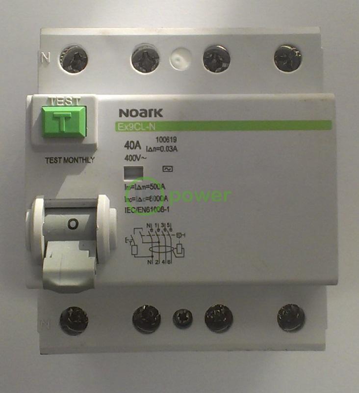Дифференциальный выключатель Ex9CL-N 4P 40A 300mA AC