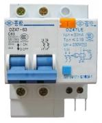 Дифференциальный автомат DZ47LE-63 1P+N C63A 30mA AC