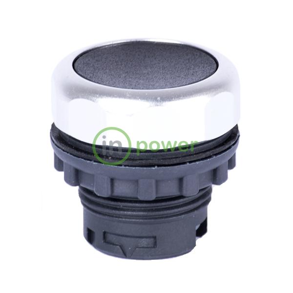Кнопка плоская черная с самовозвратом Ex9P1 F k