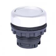 Кнопка плоская белая с самовозвратом и подсветкой Ex9P1 FI w