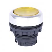 Кнопка плоская желтая с самовозвратом и подсветкой Ex9P1 FI y