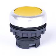 Кнопка плоская желтая с самовозвратом Ex9P1 F y