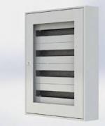 Щиток настенный MFS2 48T, стеклянная дверца, 48mod (2x24), IP40