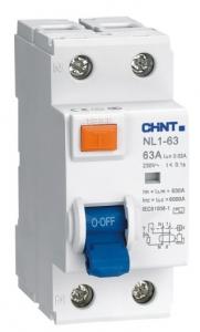 Дифференциальный выключатель NL1-63 6kA 2P 40A 30mA AC