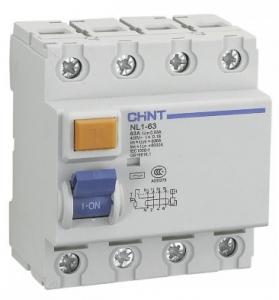 Дифференциальный выключатель NL1-63 6kA 4P 40A 30mA AC